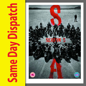 SONS-OF-ANARCHY-COMPLETE-SEASON-SERIES-5-DVD-box-set-NEW-amp-SEALED-Fifth-Five