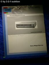 Sony Service Manual Wega SL C30PS Kundendienstanleitung (#5099)