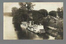 Mankato MN RP 1912 STEAMBOAT LORENE Minnesota River Steamer HOUSEBOAT