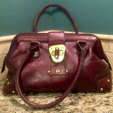 VINTAGE ETIENNE AIGNER Genuine Leather Burgundy Handbag Purse DR BAG SATCHEL