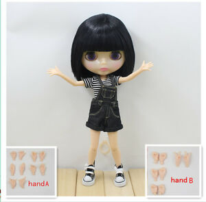"""12/"""" Neo Blythe Doll From Factory Nude Doll Jointed Body Japan/'s hair Black Hair"""