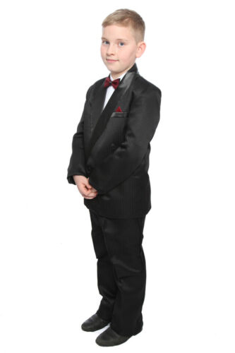 Boys Black Prom Tuxedo Suit 4 Piece 10-14 Years or 5 Piece Tux Age 1-15 Years