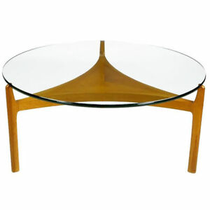 Details About Mid Century Modern Sven Ellekaer Danish Floating Gl Coffee Table Rare