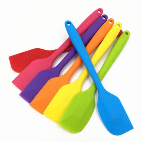 Multi-Colored Heat Resistant Silicone Spatula Scraper Kitchen Baking Tool