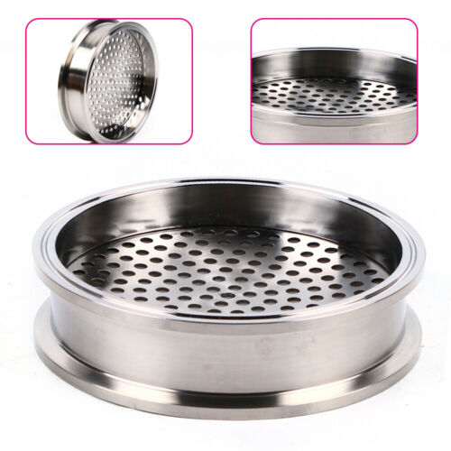 """6/"""" Sanitary Filter Plate Tri clamp SS304 Stainless Steel Strong For Homebrew NEW"""