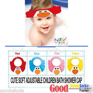CUTE SOFT ADJUSTABLE BABY KIDS CHILDREN BATH SHOWER SHIELD CAP HAT WASH HAIR