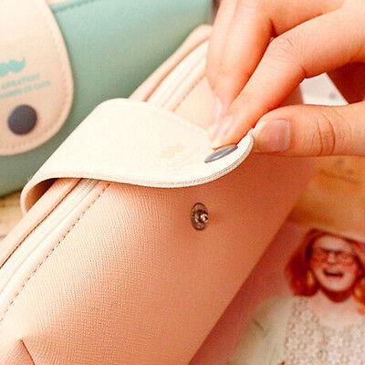 Mini Leather Cosmetic Makeup Storage Bag Case Purse Pencil Pen Pouch for Student