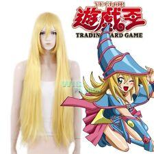 Yu-Gi-Oh!Dark Magician Girl Long Straight Yellow Blonde Anime Cosplay Wig