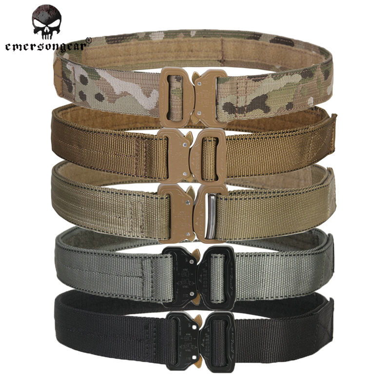 "Emerson Tactical Belt Mens Belt Duty Belt 1.5"" Cobra Airsoft  Gear Military Camo  sales online"