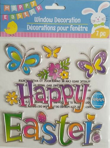 3D Metallic Easter Window Mirror Stickers Clings  Decorations   Select Design