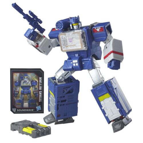 Hot Transformers Generations Titans Return Leader Class SOUNDWAVE Soundblaster