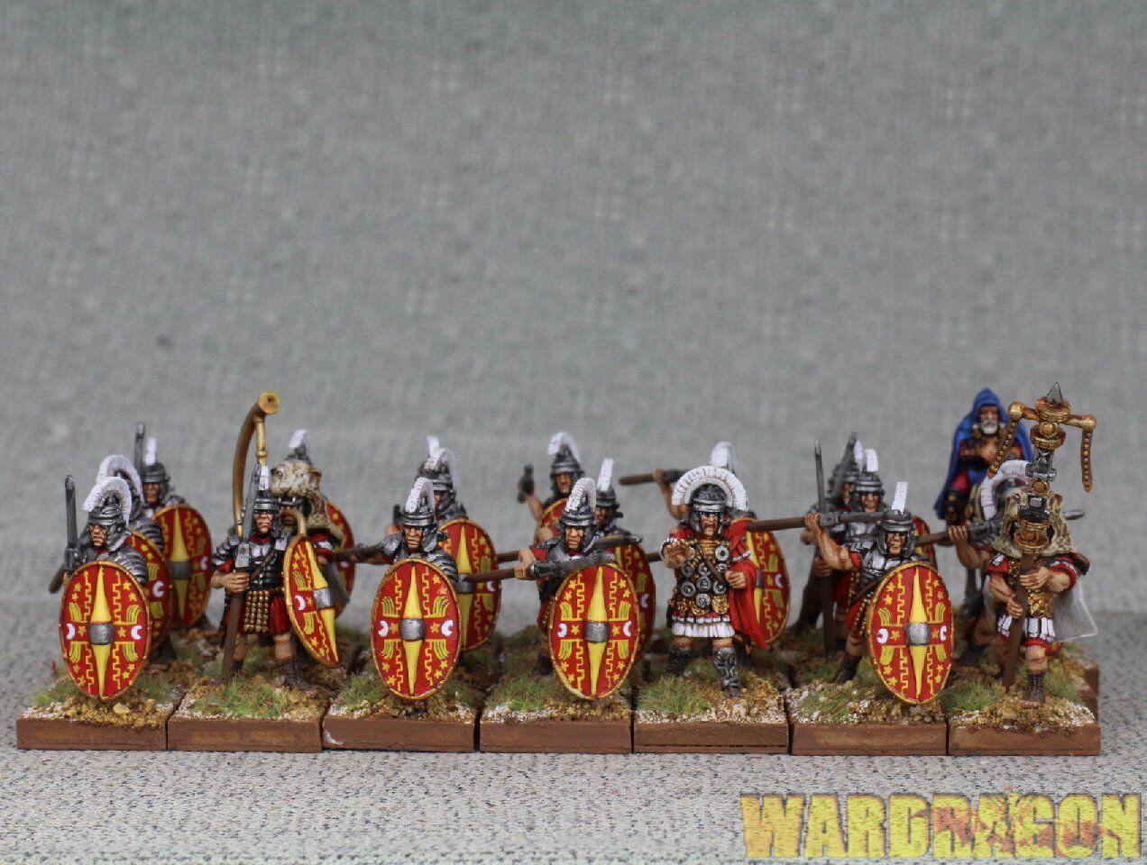 Wds Pintado granizo César Imperial romana temprana  Guardia pretoriana 1 b74 montado