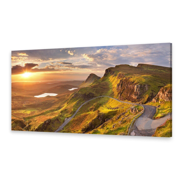 Leinwand-Bilder Wandbild Druck auf Canvas Kunstdruck Sonnenaufgang Berge