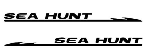 "YOUR COLOR CHOICE 150 PAIR OF 4.5/""X28/"" SEA HUNT BOAT HULL DECALS MARINE GRADE"