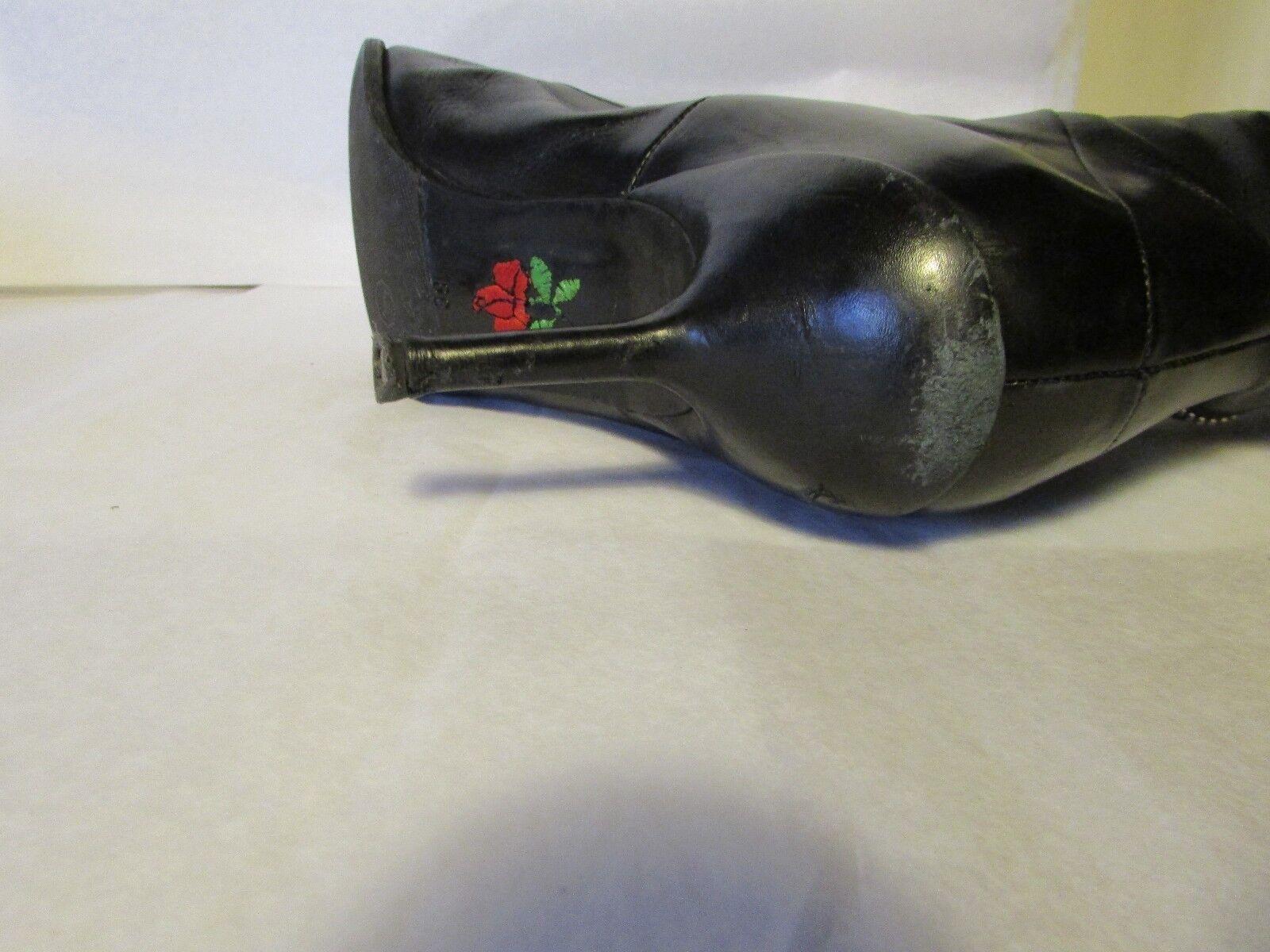 Stiefel Absatz Leder Nadel FREE LANCE schwarzes Leder Absatz 38 b47905