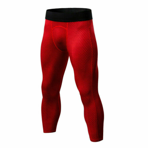Mens Compression 3//4 Pants Top Workout Running Gym Base Layers Quick-dry Tights