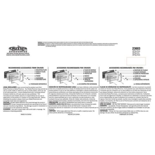 "Cruiser Accessories /""USA American Flag/"" Chrome License Plate Frame 23003"