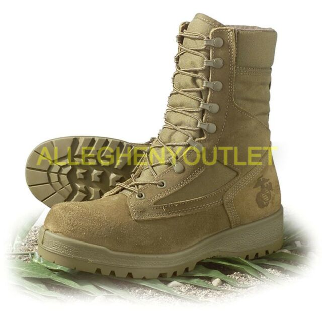 US Military HOT WEATHER COMBAT BOOTS Vibram Soles Desert Tan USA Made NEW