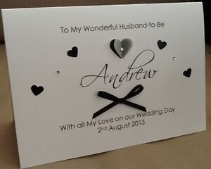 handmade personalised large husband to be wife to be on our