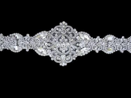 Wedding Gown Dress Crystal Belt Sash Embellishment