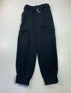 Haut-femme-ZARA-Noir-Casual-Court-Jambe-Taille-Haute-Ete-Pantalon-Taille-XS-Small