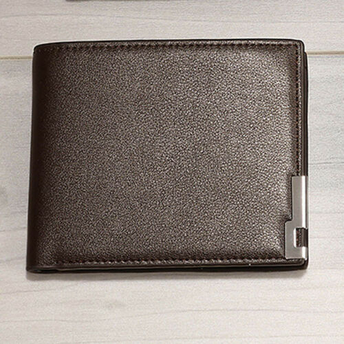 Classic Men Bifold Leather Wallet Credit Card Holder Billfold Small Purse Clutch