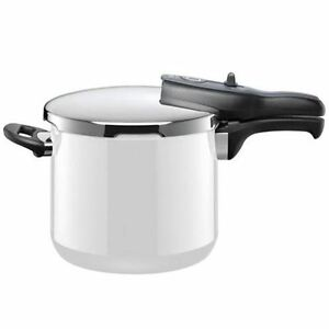 silit energy white sicomatic t plus pressure cooker 6 5ltr made in germany ebay. Black Bedroom Furniture Sets. Home Design Ideas