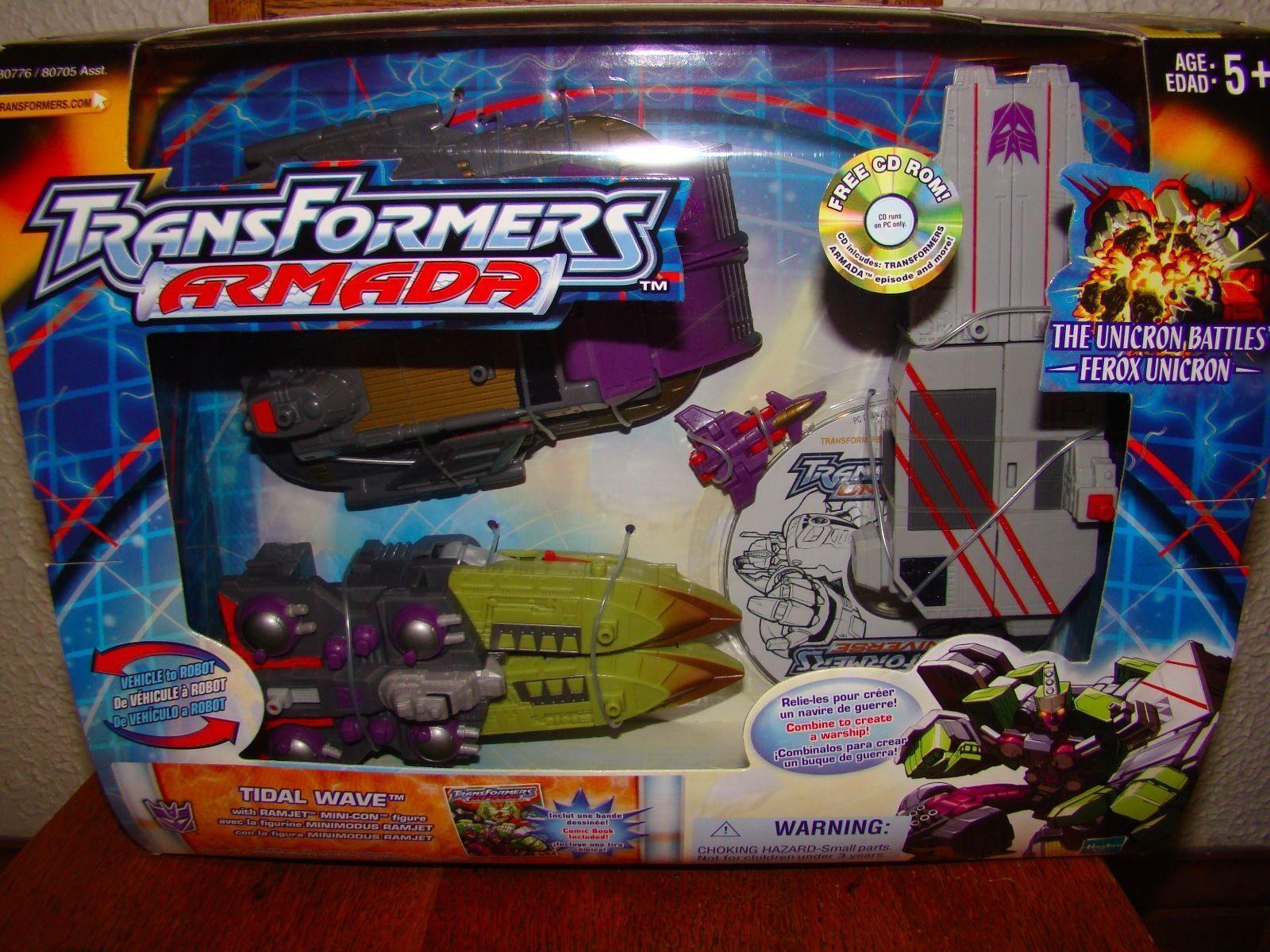 Hasbro Transformers Armada Tidal Wave W/ Ramjet Mini-con NEW SEALED