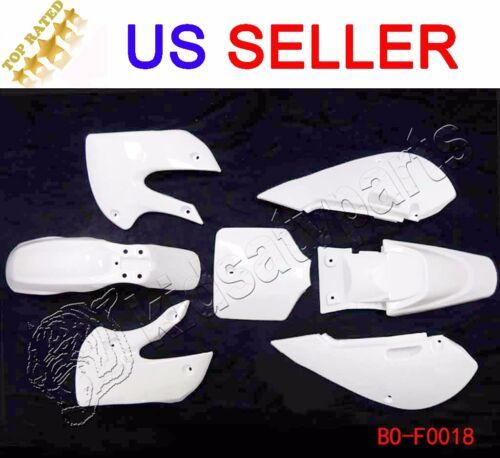 Plastic Fender Kawasaki KLX 110 KLX110 DRZ KX 65 White Complete Fairing Kit