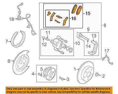 MAZDA OEM 07-12 CX-7 Brake-Front-Brake Pads Mount Kit L2Y63329Z