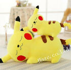 Cute Pokemon Papa Pikachu Plush Toy Stuffed Animal Doll Kid Present