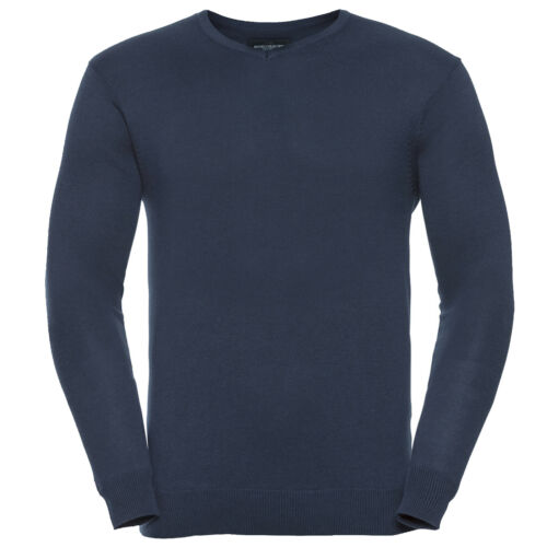 RUSSELL COLLECTION COTTON ACRYLIC MENS V NECK SWEATER 710M