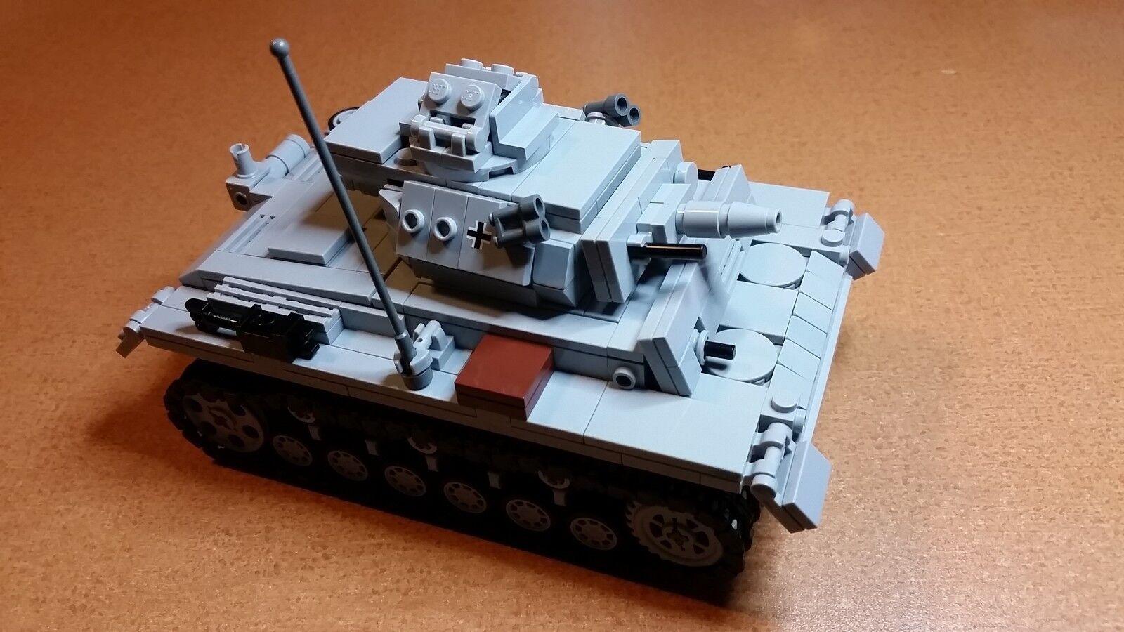 Lego WW2 GERMAN Vehicle PANZER III ausf. N TANK Artillery NEW