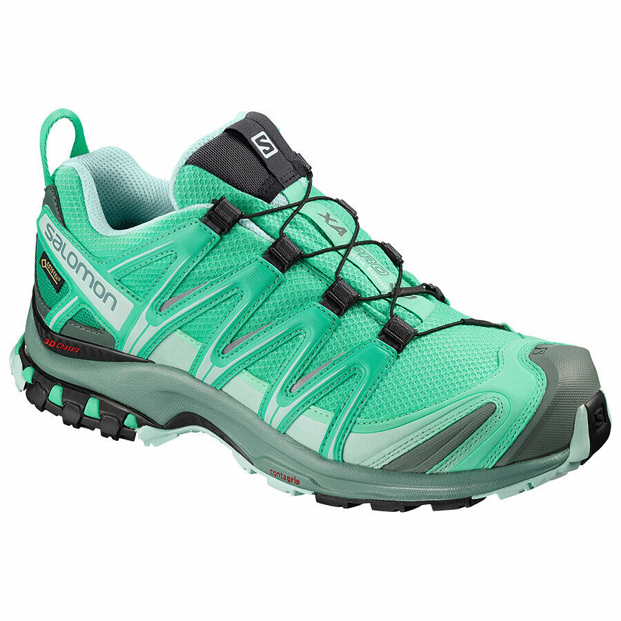 Zapatos Trail Running Approch Mujer Salomon Xa pro 3D GTX W Electric verde