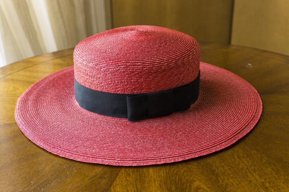 Bonwit Teller - Vintage  Straw Summer Hat - Wide … - image 6