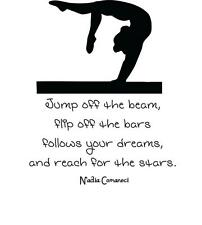 "Nadia Comanei Quote | Vinyl Wall Decal | Gymnastics Sticker 22""x25"" [Sports31]"