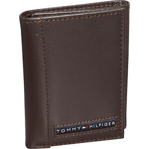 4f35644e1 Image is loading Brand-New-Genuine-Leather-TOMMY-HILFIGER-Mens-Brown-