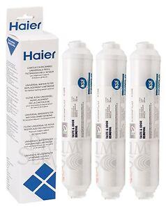 3x Geniune Haier 0060823485A Kemflo Aicro Taste Odor Removal Fridge Water Filter