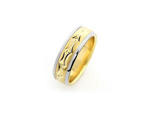 Herren-Ring-14-Karat-585-Gelbgold-Ehering-Schmuckring-Design-Neu