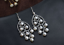 thumbnail 6 - B11-Oriental-Earrings-White-Freshwater-Pearls-And-Sterling-Silver-925