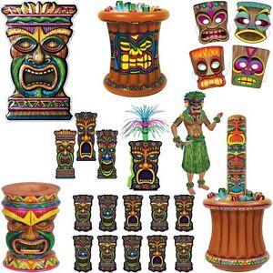 tiki deko hawaii party sommer strandparty pool beach dekoration set mottoparty ebay. Black Bedroom Furniture Sets. Home Design Ideas