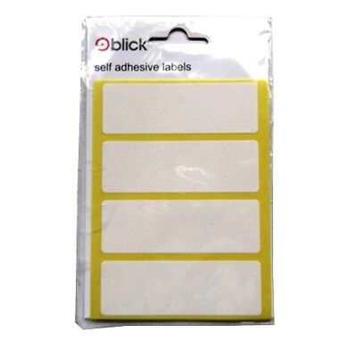 Blick White Mini Self Adhesive Labels - Various Sizes, Styles, Quantities
