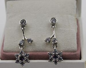 5c2aaff9446 Details about AUTHENTIC PANDORA Forget Me Not Drop Earrings 290691ACZ #1150