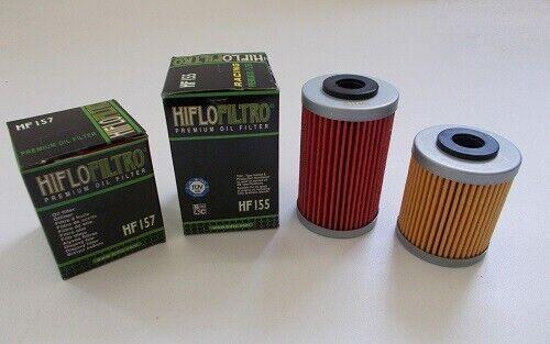 HIFLO Kit Filtri Olio HF155+HF157 KTM SMC 690 R 2012 2013 2014 2015 2016 2017