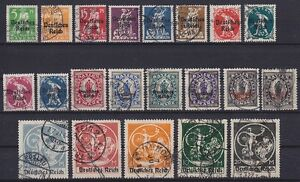 DR-Mi-Nr-119-138-mit-133-II-alle-geprueft-Infla-Abschiedsserie-1920-used