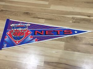 New-Jersey-Nets-Pennant-Vintage-Standard-Size-NBA-Basketball-Brooklyn