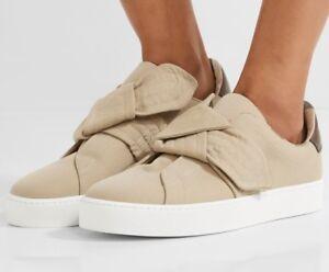 On Size Women's Sneakers 6 Burberry Knotted Honey Us Gabardine Slip LARj3q45