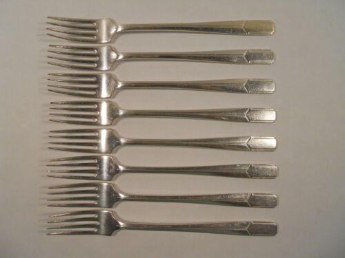Holmes & Edwards Napoleon Pattern Silver Plate Flatware Viande Forks, Set of 8