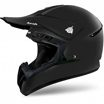 Entusiasta Casco Da Moto Cross Enduro Quad Airoh Switch Color Nero Opaco Taglia Xl