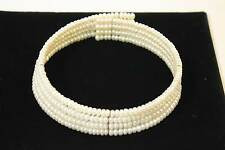 4 Strand Cultured Pearl Wire Choker Necklace Adjustable Choker